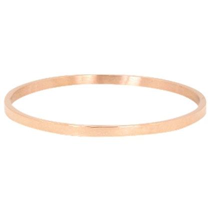 Plain stainless steel bracelet (rose gold)