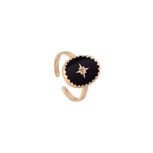 Ring Black Star Rose