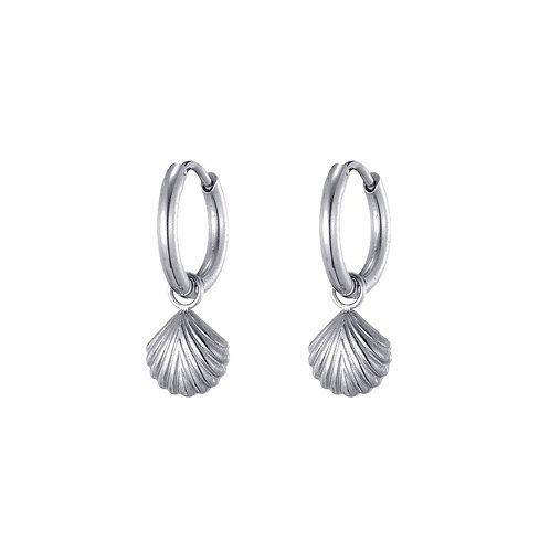 Hoops Mini Shell Silver