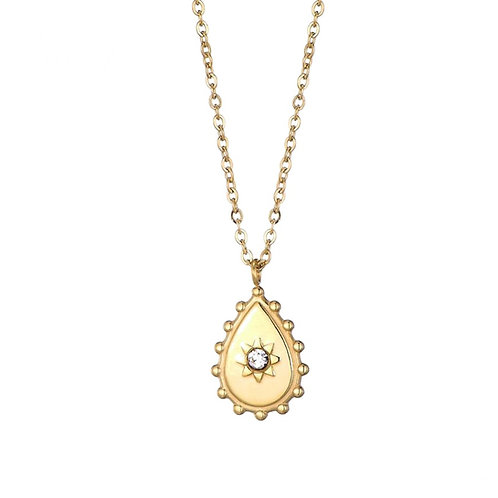 Teardrop Gold Necklace