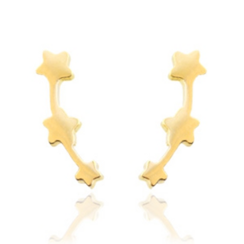 Stars trio stainless steel earrings