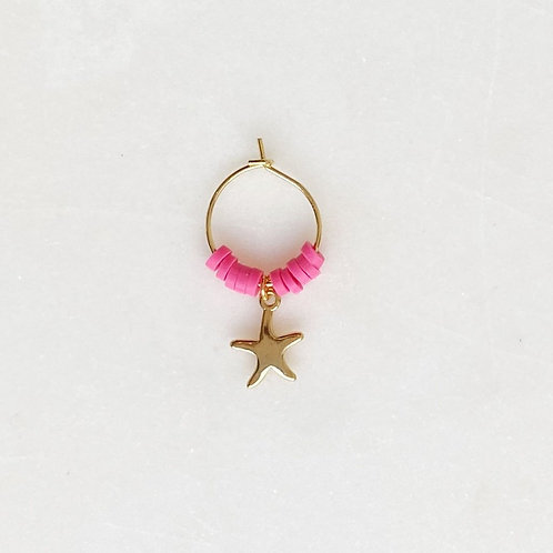 Surf Earring Starfish Neon Pink By☆Nouck