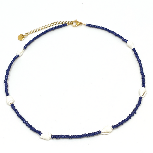 Choker Little Shells Navy Blue