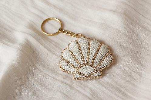 Beaded Shell Keychain