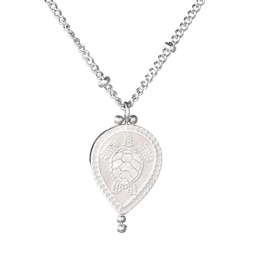 Sea Turtle Necklace Silver