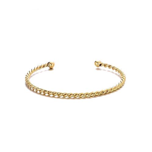 Twisted Bangle  Gold