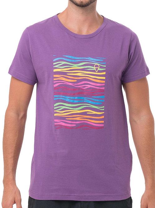 Neon Zebra Tee Purple