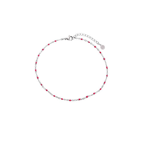 Anklet Red Silver