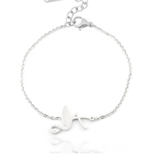 Flamingo stainless steel bracelet