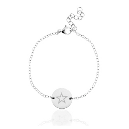 """✩"" stainless steel bracelet (silver)"