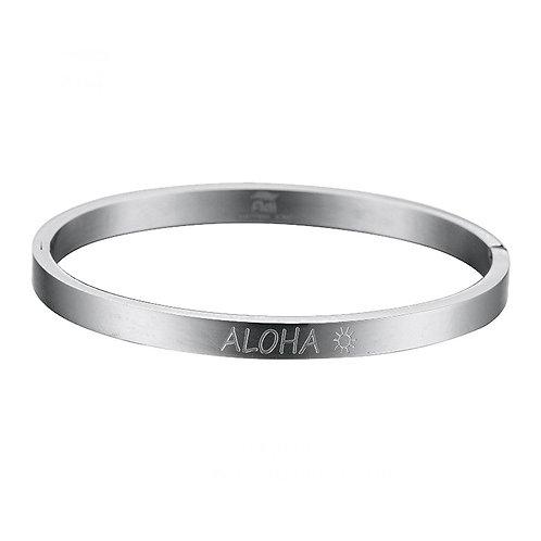 Aloha Bangle  Silver