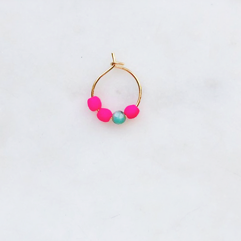 Thin Neon Pink Blue Earring Beads By☆Nouck