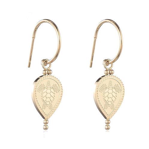 Turtle Earrings Gold