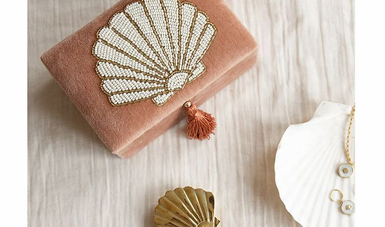 Velvet Box Small Shell Pink