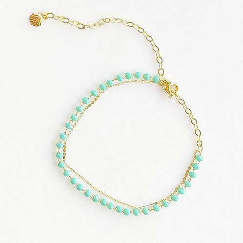 Double Green Anklet By☆Nouck