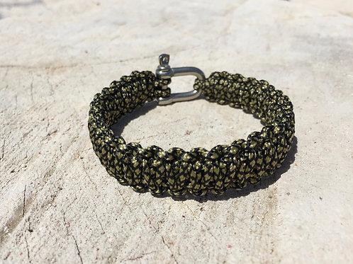 Paracord bracelet - Diamond Gold