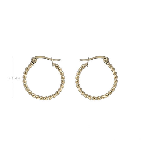 Hoops Twisted Gold