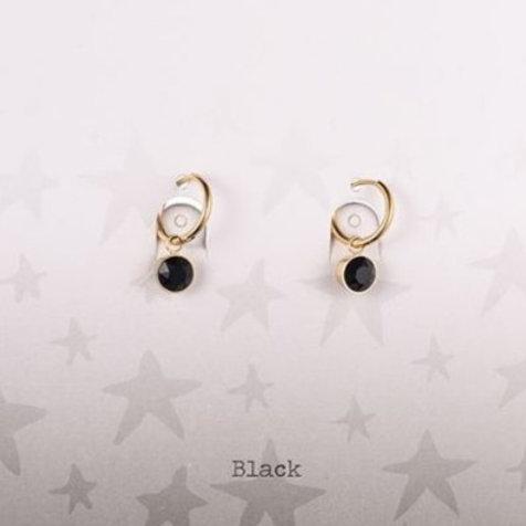Wishdom Black Earrings Gold