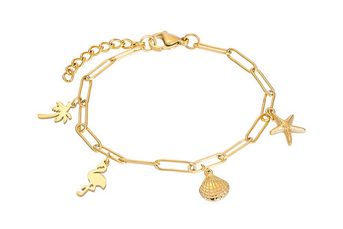 Bracelet with charms 17+3