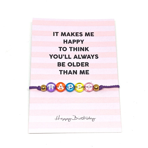 Makes Me Happy Bracelet With Giftcard