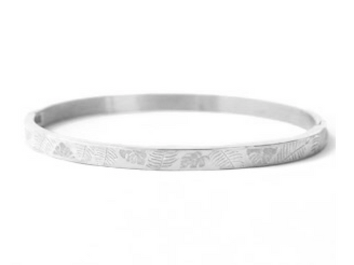 Tropical Leaves Silver