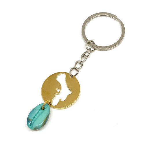 Bonaire Keychain With Shell