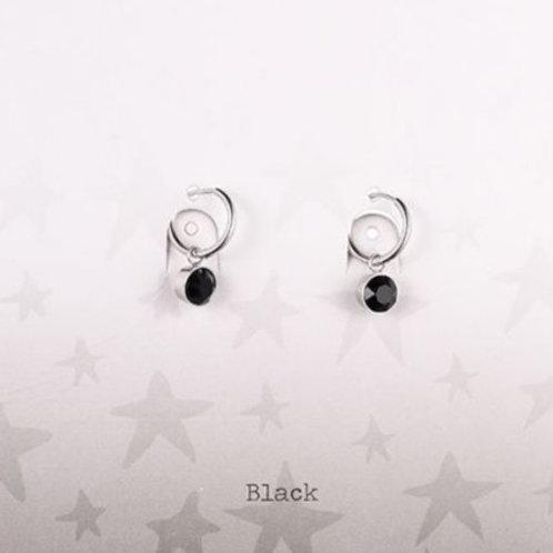 Wishdom Black Earrings Silver