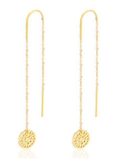 Mandala Gold Earrings
