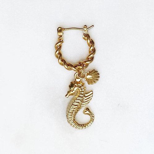 Twisted Hoop Seahorse By☆Nouck