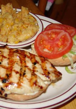 Chicken In The Woods Sandwich