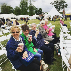 Cheers!! Fabulous day out at Hyland Park Flower Show - friends, flowers and shopping!!!