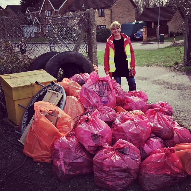 It's the Great British Spring Clean today!! Elsenham WI members and residents of Elsenham came toget
