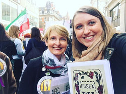 Elsenham WI's Instagram duo are out today taking part in the #millionwomenrise protesting raising aw