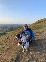 Hugh, Kiwi and Roo on the top of The Malvern Hills