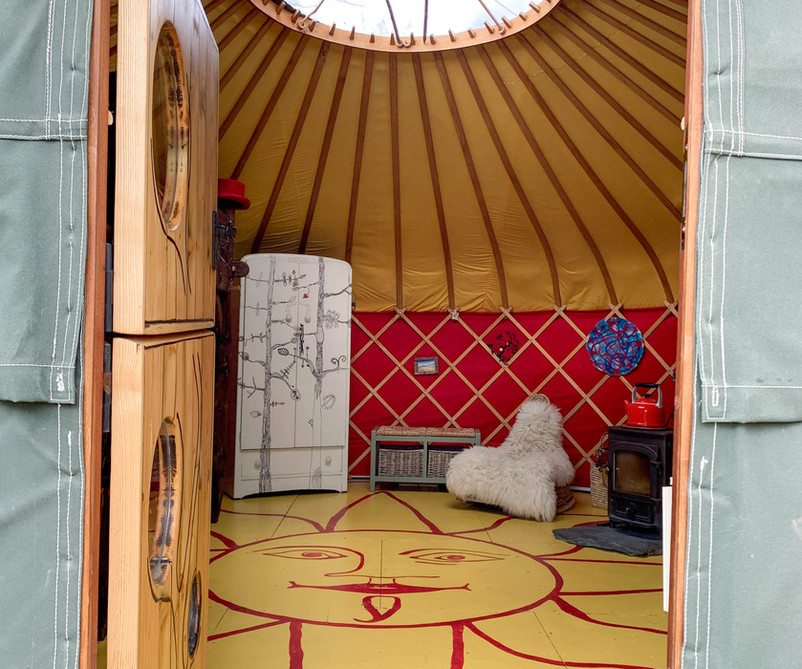 Cai Yurt interior