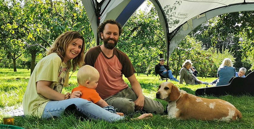 Lorna, Ben, Ruben & Chester Dog at DragonFest, 2020