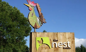The Nest tea rooms in Ledbury, Herefordshire