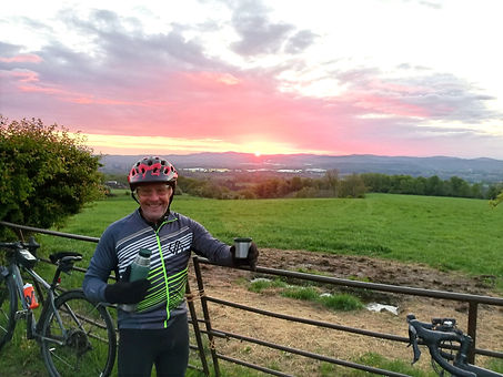Norman Stanier enjoying a cycle ride in Herefordshire countryside