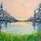 """Thumbnail: Spring's Orange Sunset 8""""x8"""""""