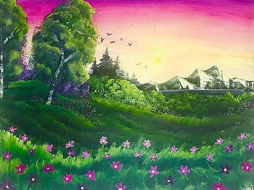 "Fairy Tale Landscape 16""x20"" sold"