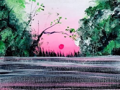 "Rosy Sunset 5""x7"""