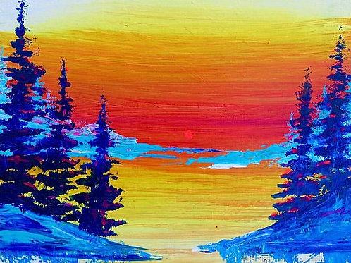 "Sunset Landscape 8"" X 10"" SOLD"