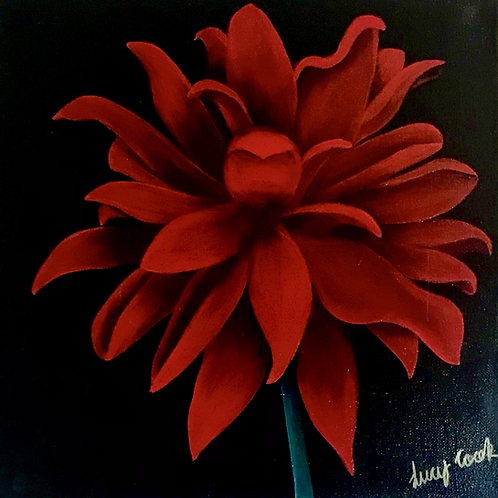 "Passion flower 16""x16"""