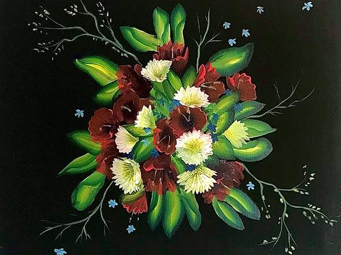 "Neon Bouquet 16""x20"""