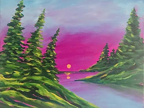 "Purple Skies 16""x20"""