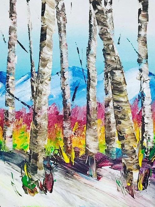 "Birch Trees 8""X 10"" SOLD"