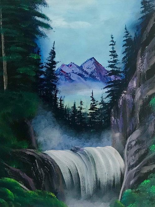 """Misty Waterfall 16""""x20"""""""