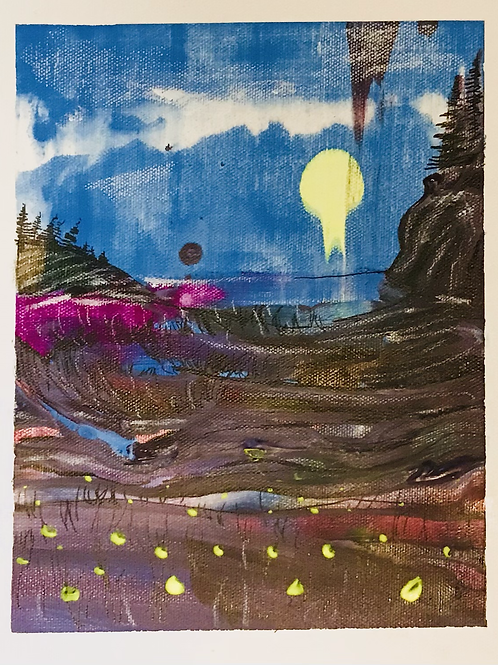 Abstract scrape landscape