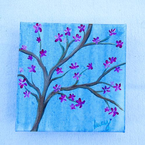 "Blossom Tree 4"" X 4""SOLD"
