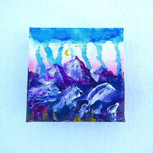 """Thick Mountains 4"""" X 4"""""""